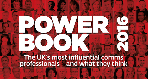 PRWeek Power Book UK 2016 highlights the biggest players in the industry