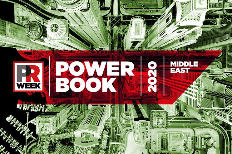 PRWeek launches Middle East Power Book 2020