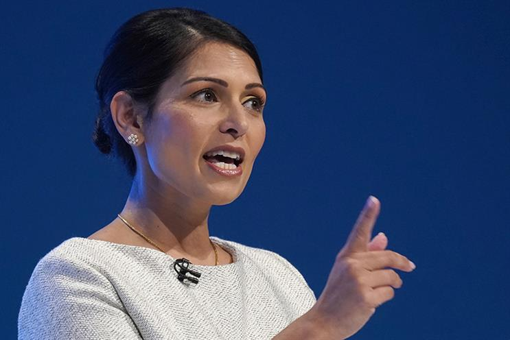 Home Secretary Priti Patel worked in PR for 15 years before being elected as an MP in 2010 (Pic credit: Christopher Furlong/Getty Images)