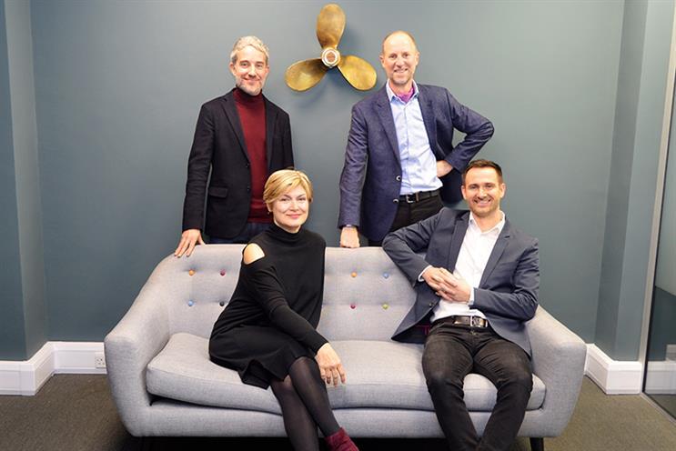 Propeller Group's leadership team: (top left, clockwise) Jody Osman, Martin Loat, Kieran Kent and Rose Bentley.