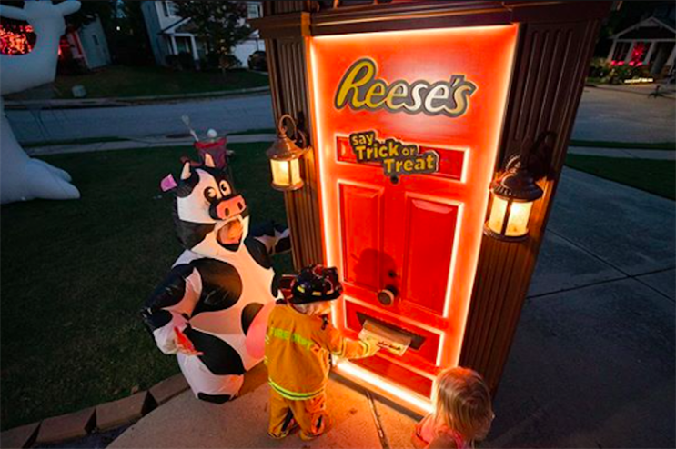 What brand did socially distanced Halloween best: Skittles smelly costume or Reese's robot door?