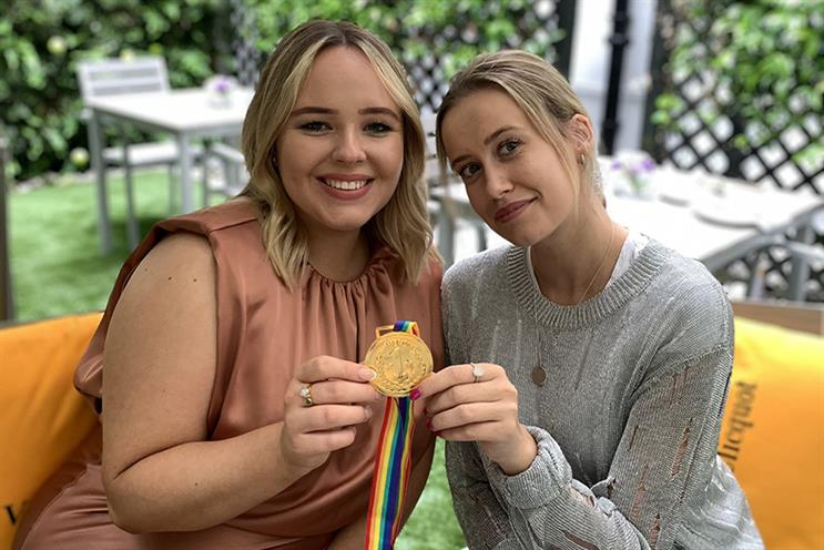 Elle Bellwood (L) and Gigi Rice (R) have become the UK's first winners of the global Cannes Young PR Lions competition