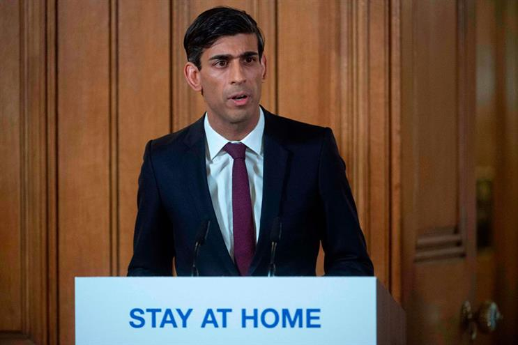 Chancellor Rishi Sunak reveals an emergency package to help struggling businesses. (Photo: Getty Images)