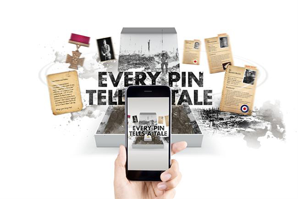 Royal British Legion uses AR to turn commemorative pins into a storytelling experience