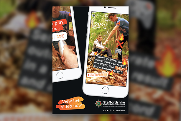 Teenage boys are being warned about the dangers of setting fires outdoors in the hard-hitting 'Flames Aren't Games' campaign