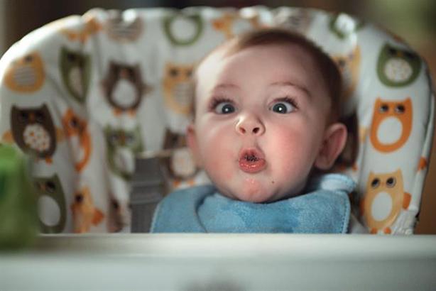 Pampers 'Poo face' work by Saatchi & Saatchi