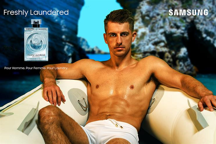 L'Eau de Laundry: Max Whitlock is the face of Samsung's new fragrance