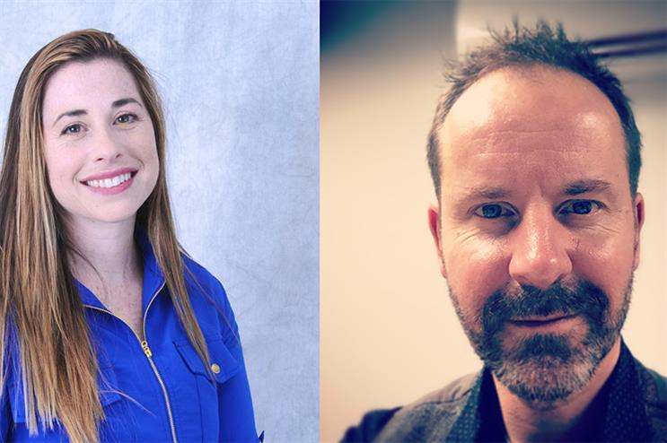 (L-R) Shula Sarner, director, scientific services, at Makara Health, and Neil Padgett, the agency's creative director