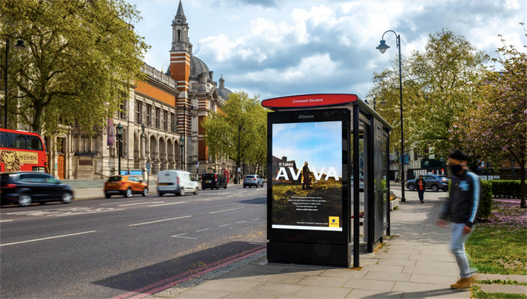 Outdoor ads for 'It takes Aviva' were created by Adam & Eve/DDB