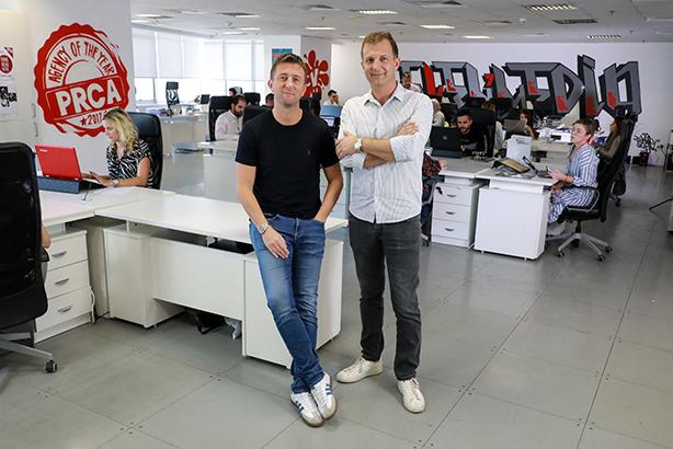 Local understanding: Seven Media co-founders Gregg Fray (left) and Matt Slater
