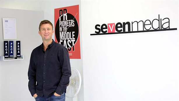 Matt Slater, owner of Seven Media, welcomes his firm's latest appointment