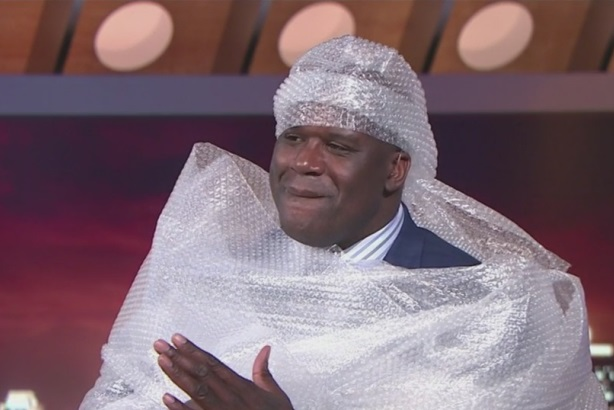 How Coyne turned Shaq's on-air tumble into a win for Bubble Wrap