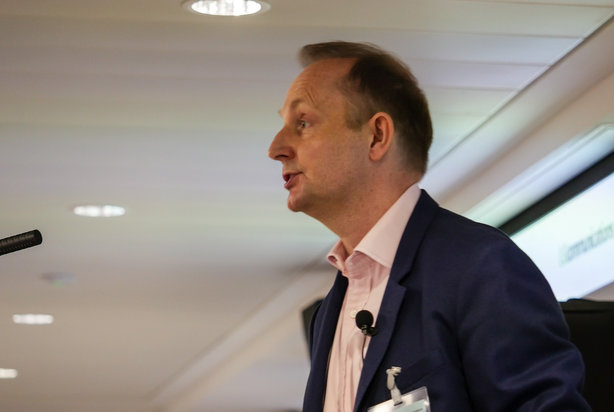Simon Jones, chair of LGcomms, addresses delegates at the Leeds comms conference (pic credit: Smugshot.co.uk)