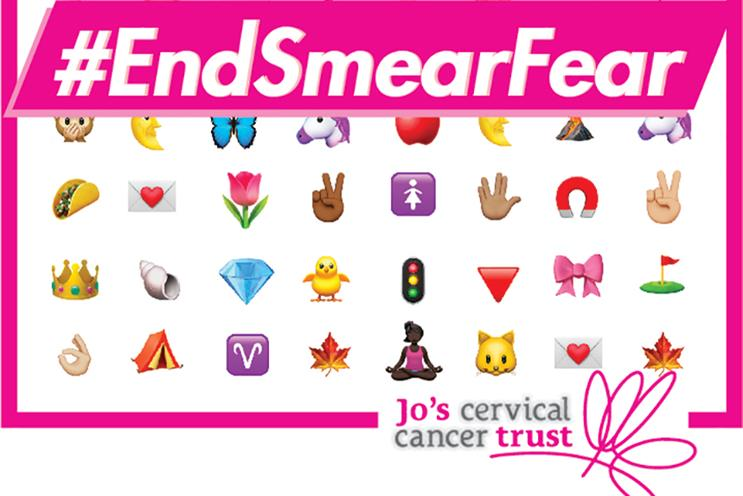 Emoji campaign encourages women to talk about vaginas and smear tests