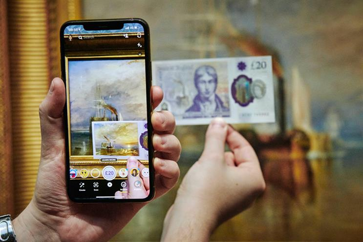 Snapchat: lens uses AR to bring to life Turner's artwork