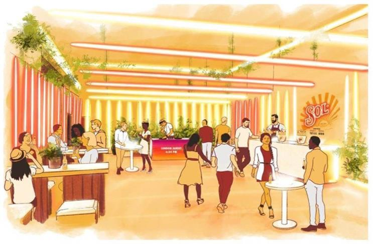 An artist's impression of the bar