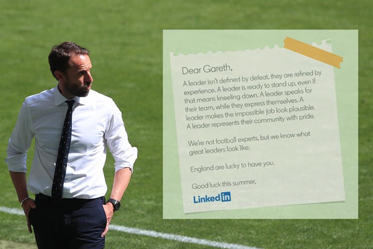 LinkedIn replies to Southgate letter in new campaign