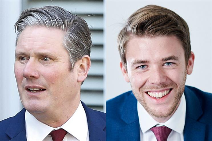 Keir Starmer (L) has appointed Ben Nunn (R) as the Labour Party's new director of comms (Starmer pic credit: Getty Images)
