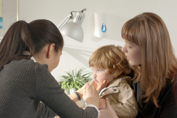 Targeted: PHE is telling parents of toddlers the flu vaccine comes in a nasal spray, rather than an injection