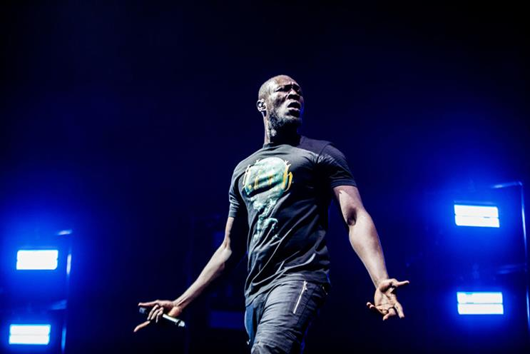 Stormzy at a concert in Amsterdam. Photo: Getty Images.