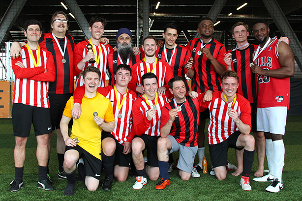 The Academy (red and white) and CIPR were the two finalists of this year's PR Cup