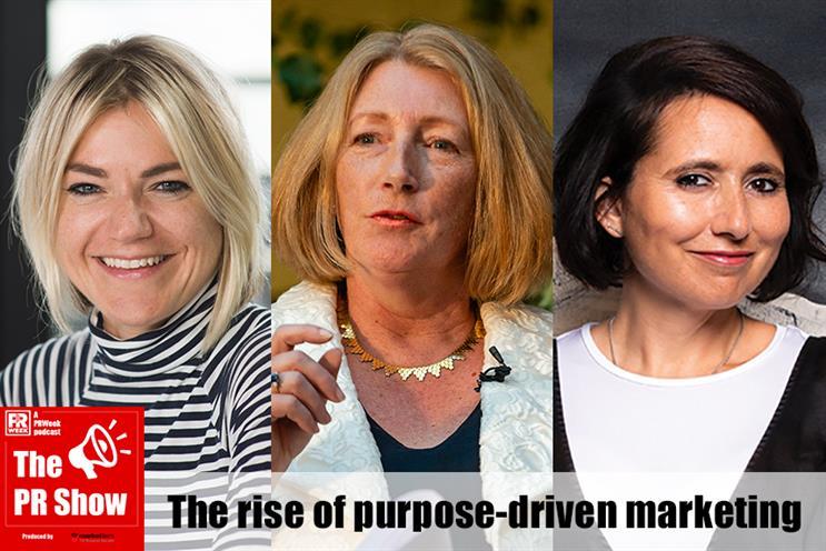 The panel: Freuds' Lotte Jones, leading sustainability expert Sue Garrard, Blurred's Nik Govier