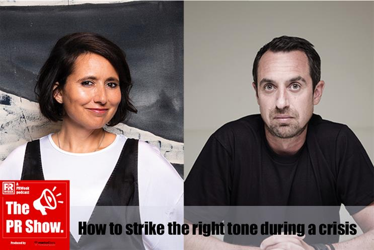Blurred's Nik Govier and Frank's Andrew Bloch discuss brand comms and tone on The PR Show.