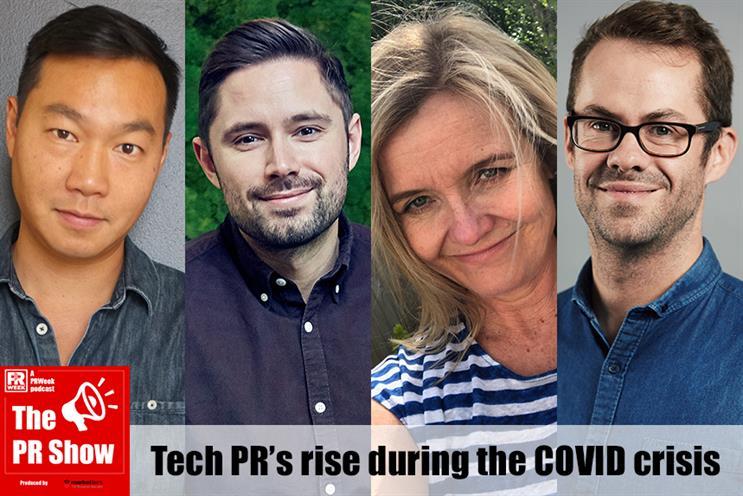 Tech PR panel: Adrian Ma, David Lucas, Ilona Hitel and André Labadie.