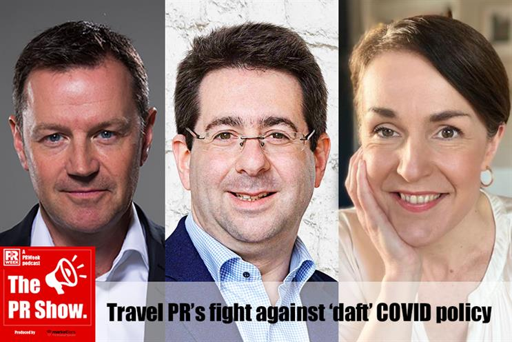 Danny Rogers (left) was joined on The PR Show by Paul Charles and Rachel O'Reilly