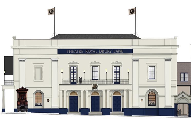An artist's impression of the refurbished Theatre Royal Drury Lane