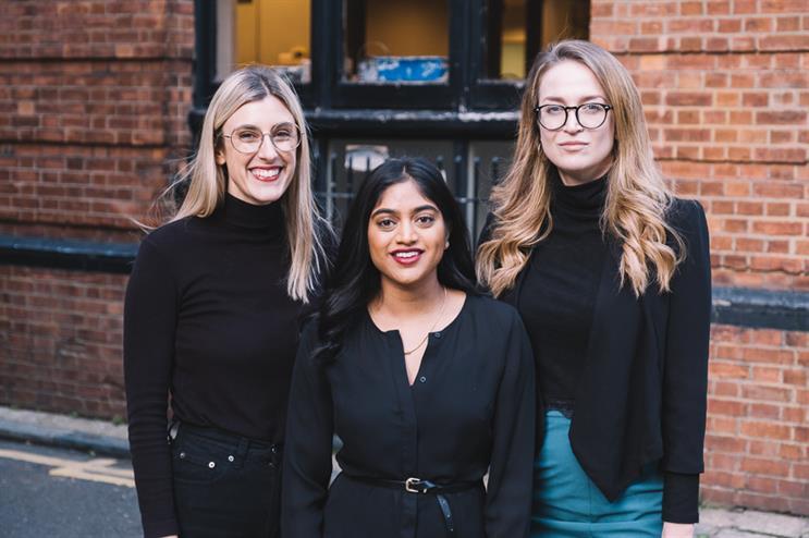 (L-R) Third City's Briony Fitzgerald, Dearra Naidoo, and Lauren Westmore