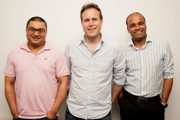 Threepipe's three-man board (l-r): Farhad Koodoruth, Jim Hawker, Tony Thomas