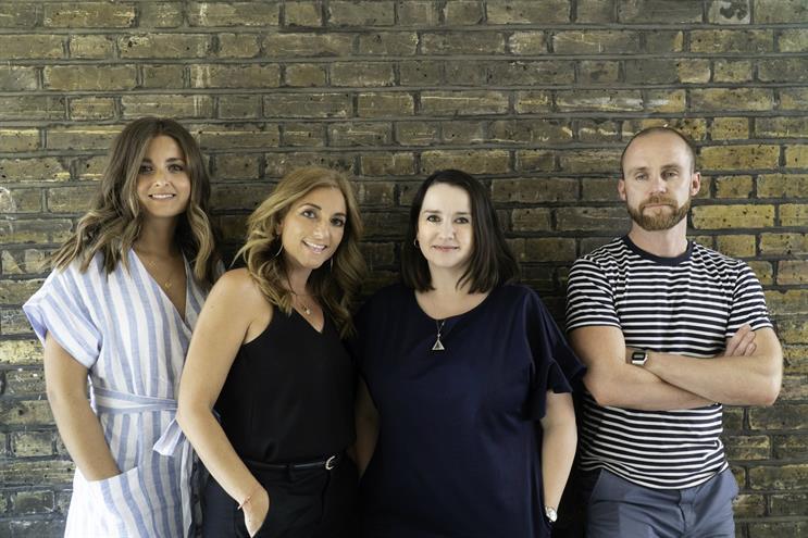 Tin Man team (l to r): Natalie Neave, head of client services; Sharp; Elly Kestenbaum, head of planning & strategy; Paul Valentine, creative director