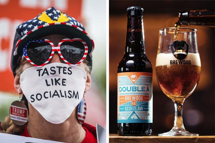 BrewDog severed ties with US brewer Scofflaw after a 'rogue release' claimed BrewDog was inviting Trump supporters to its bars (Photo: Getty Images/supplied)