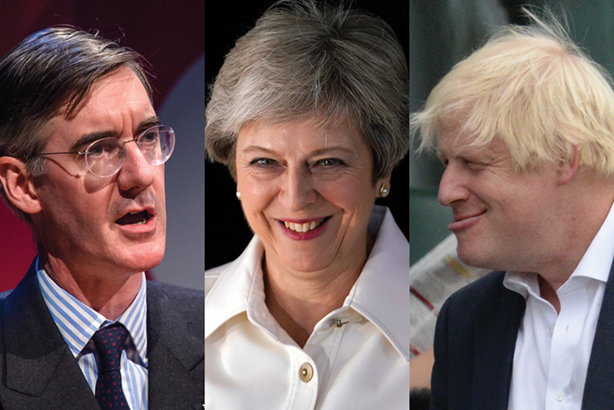 Mogg, May and Boris are not the embodiment of Conservative Party unity (© Matt Crossick/ EMPICS, Christopher Furlong/Getty Images, Philip Brown/Getty Images)