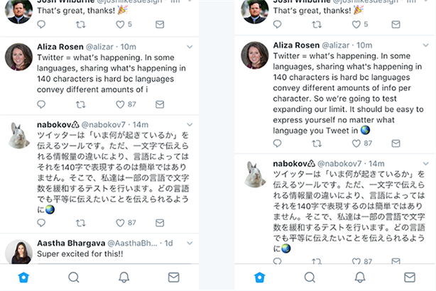 Twitter trials double-length tweets