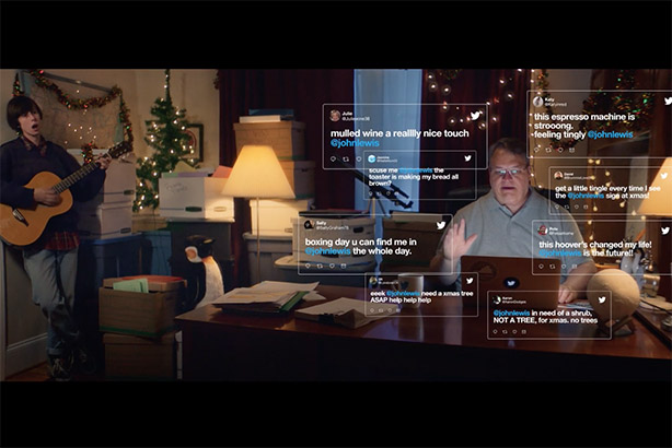 #NotARetailStore - John Lewis (the man) stars in Twitter UK Christmas campaign