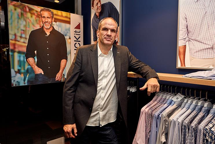England rugby star Martin Johnson was on hand for UNTUCKit's London launch