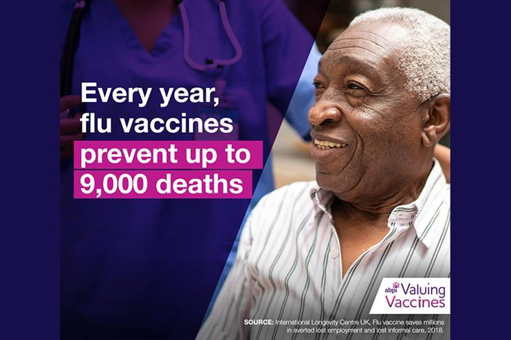 One of the images being used in the 'Valuing vaccines' campaign