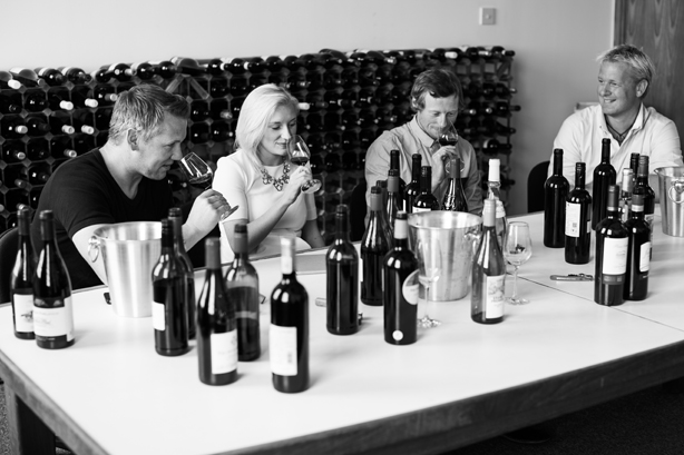 Virgin Wines (L to R): Head wine buyer Andrew Baker, PR & events manager Jessica Anderson, wine buyer Dave Roberts and chief executive Jay Wright