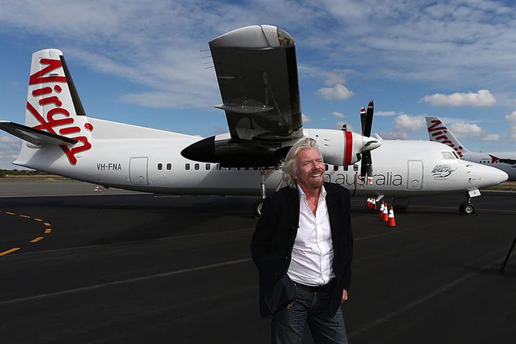 Virgin founder Sir Richard Branson has been criticised for seeking government handouts. Virgin Australia (pictured) recently entered voluntary administration. (Photo: Paul Kane/Getty Images)