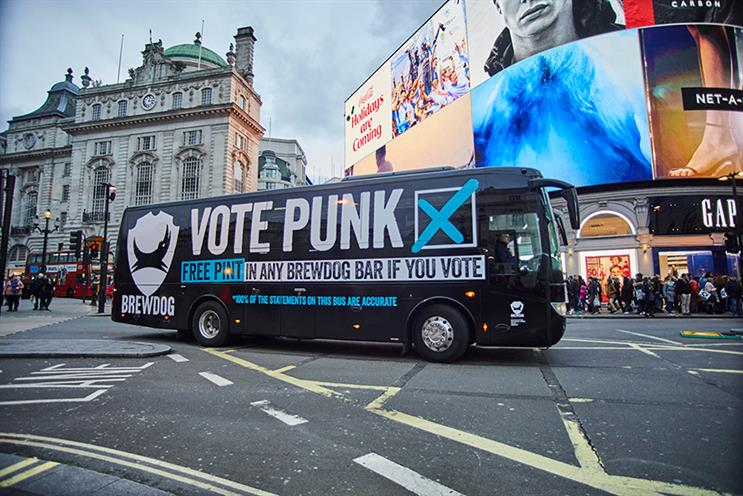 BrewDog's Vote Punk campaign took to London's streets