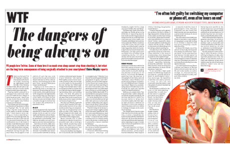 The dangers of being always on: from PRWeek November 2013 issue