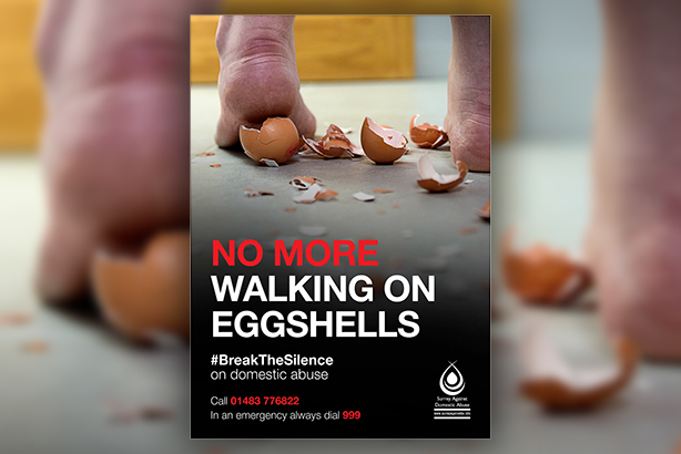 One of the campaign images used to encourage people to speak out against domestic abuse (Pic credit: Surrey Police)