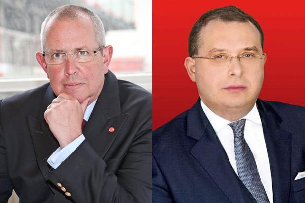 Social spat: Chris Whitehouse (left) and Francis Ingham