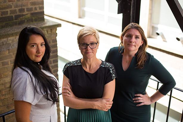 With's leadership team: Joanna Derain, Debbie Zaman and Elizabeth Jones.