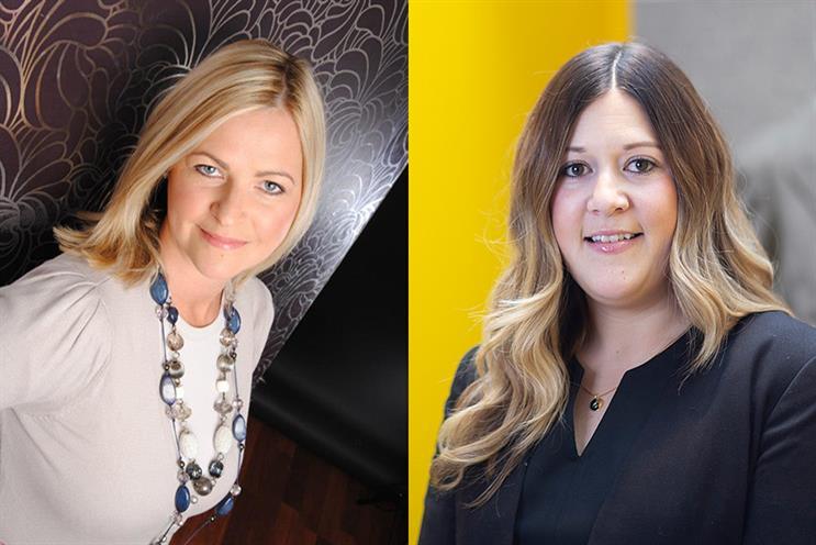 Rachel Moss (left) and Laurian Hubbard, co-presidents of the new Women in PR Cymru