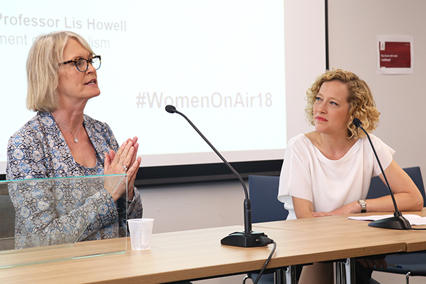 Channel 4 News presenter Cathy Newman interviews Margot James MP, Minister of State for the Department for Digital, Culture, Media & Sport