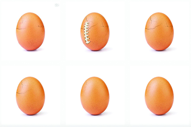 Top of the Month: World Record Egg cracks it on Instagram