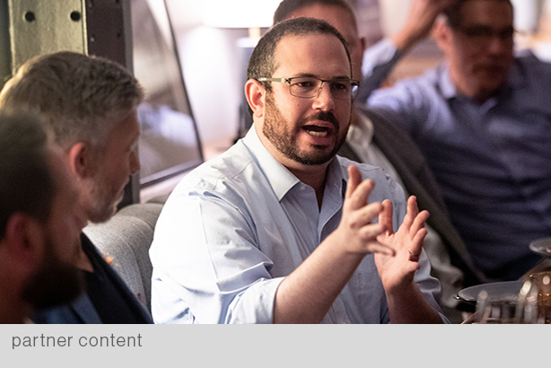 Zignal Labs CEO Josh Ginsberg joined the roundtable, adding insight on the real impact of fake news. (Photo courtesy of Josh Edelson)